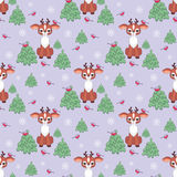 Funny fawn pattern Stock Photo
