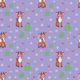 Funny fawn pattern Stock Photos