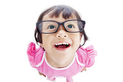 Funny female preschooler Stock Photos