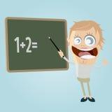 Funny female teacher Royalty Free Stock Image