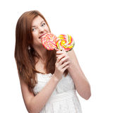 Funny festive girl Royalty Free Stock Images