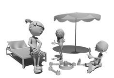 Funny figures. Stock Images