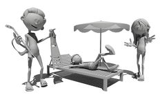 Funny figures. Royalty Free Stock Images