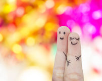 Funny finger lovers Royalty Free Stock Images