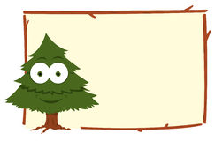 Funny Fir Frame. A vector cartoon representing a funny fir in a frame Royalty Free Stock Image
