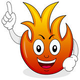 Funny Fire Flame Cartoon Character. A funny cartoon fire flame character smiling, isolated on white background. Eps file available Royalty Free Stock Photos