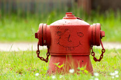 Funny Fire Hydrant. Fire hydrant in a small village in the state Brandenburg,  Germany Royalty Free Stock Images