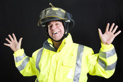 Funny Fireman Royalty Free Stock Photos