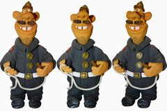 Funny fireman Royalty Free Stock Photography