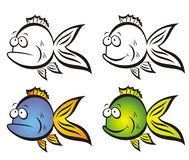 Funny fish. Royalty Free Stock Photo