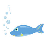 Funny fish cartoon Stock Photography