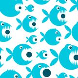 Funny fish cartoon for your design Stock Image