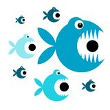 Funny fish cartoon for your design. This is file of EPS8 format Royalty Free Stock Photos