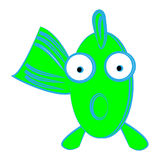 Funny fish on white background. Vector illustration Stock Photography