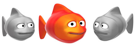 Funny fishes Stock Photo