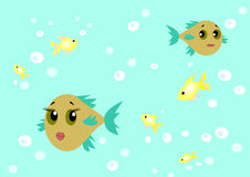 Funny Fishes Royalty Free Stock Images