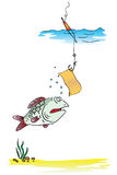 Funny fishing vector illustration