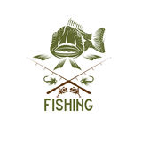 funny fishing vector design template Royalty Free Stock Photos