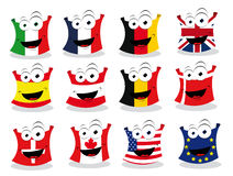 Funny Flags - Part II Royalty Free Stock Images