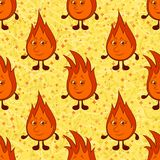 Funny Flames Seamless Stock Image