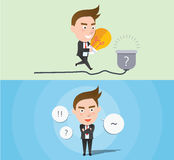 Funny flat character idea business concept. 