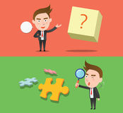 Funny flat character idea business concept Stock Photography