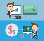 Funny flat character illustration Business series Stock Photo