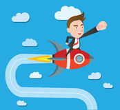 Funny flat character illustration Business series Royalty Free Stock Image