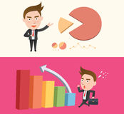 Funny flat character illustration Business series Stock Images