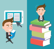 Funny flat character smart education concept Royalty Free Stock Photos