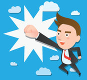 Funny flat character success business concept.  Stock Photography