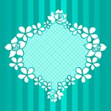 Funny floral green frame. Funny floral green vector frame on strippted background Royalty Free Stock Photos
