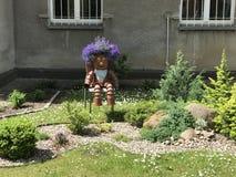 Funny flower cartoon. In a garden of Sopot Poland Royalty Free Stock Photo