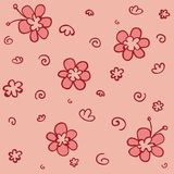 Funny flower pattern Royalty Free Stock Photo