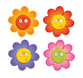 Funny Flowers. Vector illustration of four funny flowers Vector Illustration