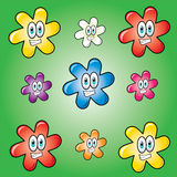 Funny flowers background Royalty Free Stock Image