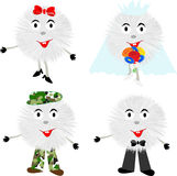 Funny fluffy cartoons,vector Royalty Free Stock Photo