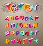 Funny font. Bright funny font design alphabet. in vector