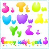 Funny font Royalty Free Stock Photos