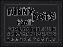 Funny font. Vector alphabet. Letters and numbers. Typeface design Royalty Free Stock Photography