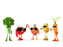 Funny food characters Royalty Free Stock Photography