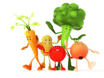 Funny food characters Royalty Free Stock Images