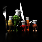 Funny food characters Royalty Free Stock Photo