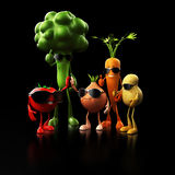 Funny food characters Stock Image
