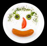 Funny food, clipping path Royalty Free Stock Photo