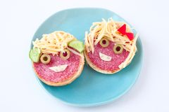 Funny sandwiches family royalty free stock images
