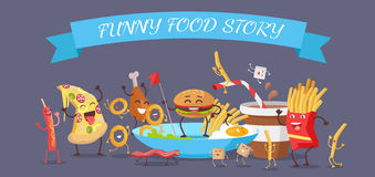 Funny Food Story Banner Royalty Free Stock Image