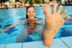 Funny foot Royalty Free Stock Photo