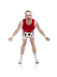 Funny football player Stock Photography