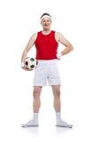 Funny football player stock photos